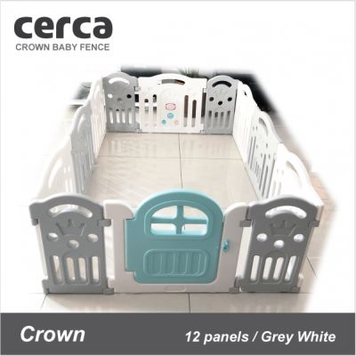 Cerca - Crown Baby Fence (Grey/White)